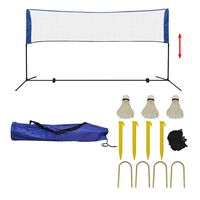 vidaXL badmintonsæt med net og fjerbolde 300 x 155 cm