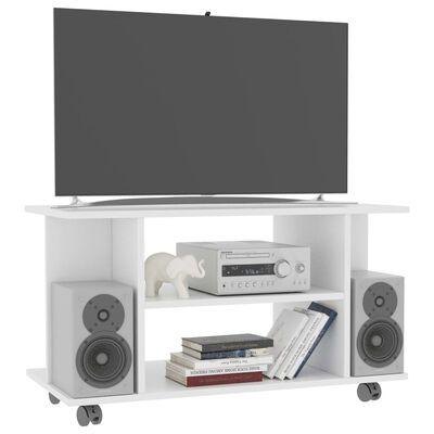 vidaXL tv-skab med hjul 80 x 40 x 40 cm spånplade hvid