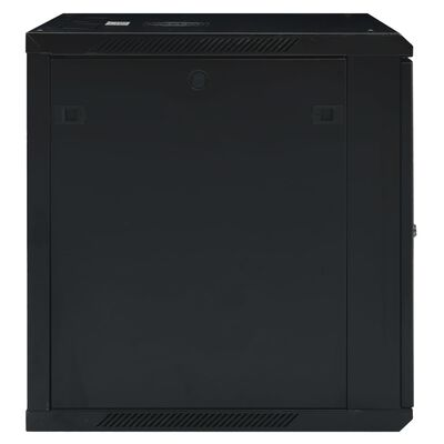 """vidaXL væghængt netværksskab 12U IP20 19"""" 600x600x640 mm"""