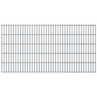 vidaXL havehegnspaneler 2D 2,008x1,03 m 4 m (total længde) grå