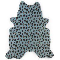CHILDHOME gulvtæppe til børn 145 x 160 cm leopardtryk blå