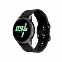 Vandtæt Smartwatch Med Blodtryk Og Pulsmåler Sort