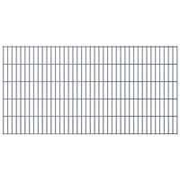 vidaXL havehegnspaneler 2D 2,008x1,03 m 12 m (total længde) grå
