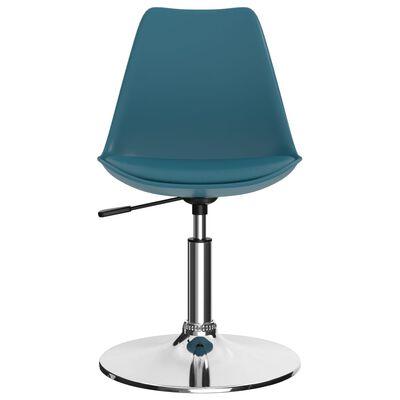 vidaXL drejelige spisebordsstole 2 stk. kunstlæder turkis