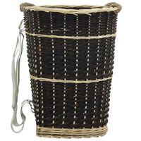 vidaXL bærerygsæk til brænde med håndtag 50 x 44 x 58 cm naturpil