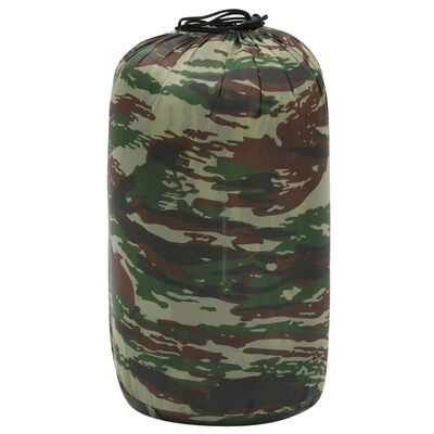 vidaXL sovepose 1100 g 10 °C rektangulær camouflagedesign