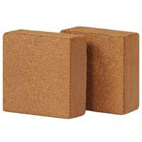 vidaXL coir-blokke 2 stk. 5 kg 30 x 30 x 10 cm