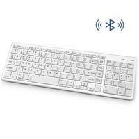 Trådløst tastatur med Bluetooth - Hvid
