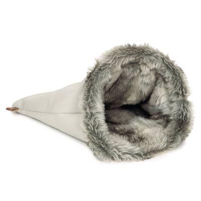 Designed by Lotte lege- og hvilepose til katte FAISCA grå
