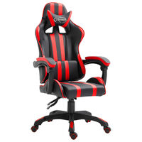 vidaXL gamingstol kunstlæder rød