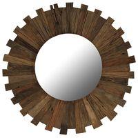 vidaXL vægspejl 70 cm massivt genbrugstræ