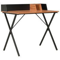 vidaXL skrivebord 80 x 50 x 84 cm sort og brun