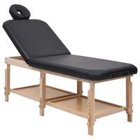 vidaXL massagebord 2 zoner kunstlæder sort