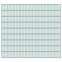 vidaXL havehegnspaneler 2D 2,008x1,83 m 8 m (total længde) grøn
