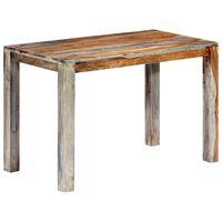 vidaXL spisebord massivt sheeshamtræ 118 x 60 x 76 cm grå