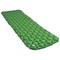 vidaXL luftmadras med pude 58x190 cm grøn