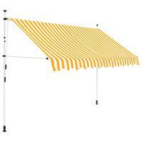 vidaXL foldemarkise manuel betjening 250 cm stribet orange og hvid