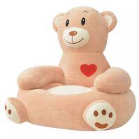 vidaXL børnestol i plys brun bjørn