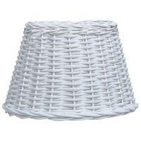 vidaXL lampeskærm 45x28 cm flet hvid