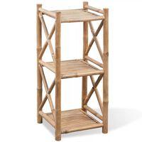 Firkantet bambusreol med 3 niveauer