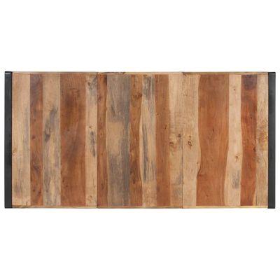 vidaXL spisebord 180x90x75 cm massivt træ med sheeshamfinish