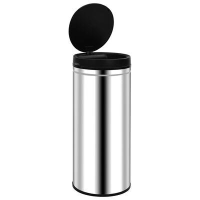 vidaXL affaldsspand med sensor 80 l rustfrit stål