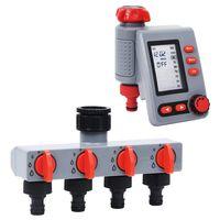vidaXL vdigital vandingstimer med enkelt udløb og vandfordeler