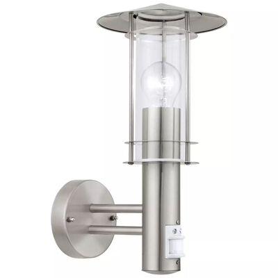 EGLO udendørsvæglampe med sensor Lisio 60 W sølv 30185