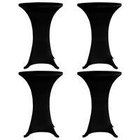vidaXL overtræk til ståbord Ø80 cm 4 stk. sort stretch