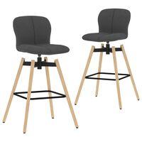 vidaXL drejelige barstole 2 stk. stof mørkegrå
