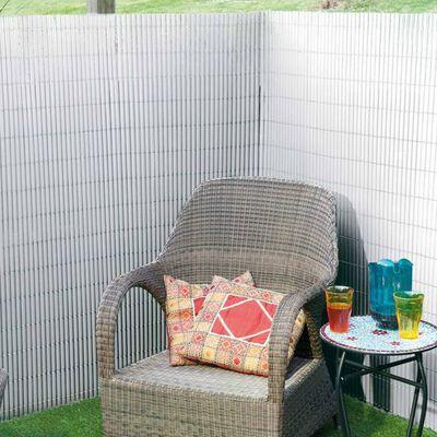 Nature haveskærm dobbeltsidet 1,5 x 3 m PVC hvid