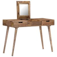 vidaXL kosmetikbord i massivt mangotræ 112 x 45 x 76 cm