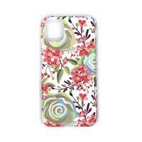 Stødsikkert mobildæksel med holder til iPhone 11 Pro Max - Blomster
