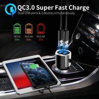 Trådløs FM-sender til bilen, Bluetooth 5.0 - Sort
