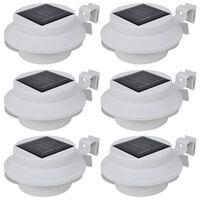 vidaXL solcellelamper 6 stk. udendørs hvid