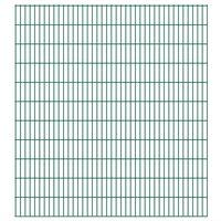 vidaXL havehegnspaneler 2D 2,008x2,23 m 4 m (total længde) grøn
