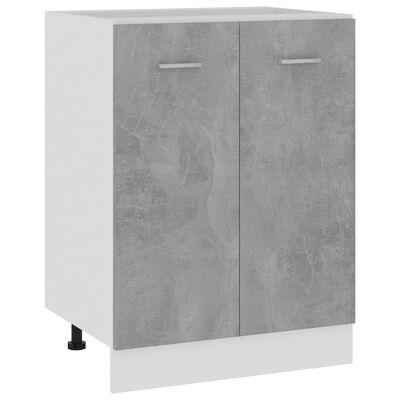 vidaXL underskab 60x46x81,5 cm spånplader betongrå