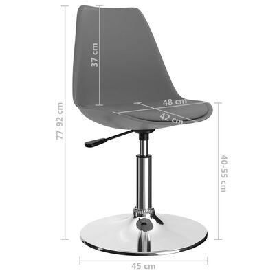 vidaXL drejelige spisebordsstole 6 stk. kunstlæder lysegrå