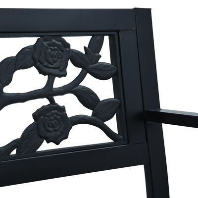 vidaXL havebænk 125 cm stål sort