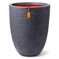 Capi krukke Nature Rib Elegant Low 36x47 cm mørkegrå