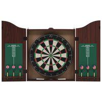 vidaXL professionel dartskive i sisal med skab og 6 dartpile