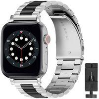 Armbånd Rustfrit Stål Apple Watch 6 (40mm) - Sølv/sort