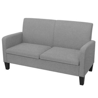 vidaXL 2-personers sofa 135 x 65 x 76 cm lysegrå