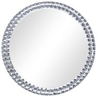 vidaXL vægspejl 70 cm hærdet glas sølvfarvet