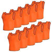 10 stk Orange Sport Bib Junior