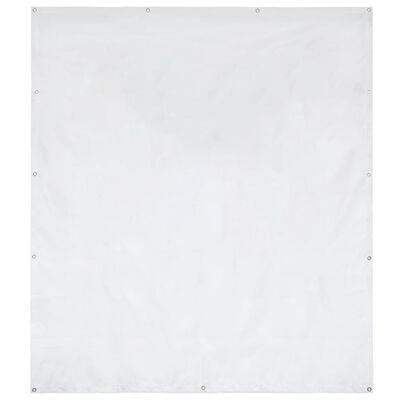 vidaXL sidepanel til festtelt PVC 2 x 2 m hvid 550 g/m²