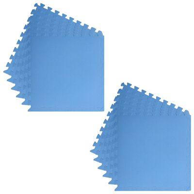 vidaXL gulvmåtter 12 stk. 4,32 ㎡ EVA-skum blå