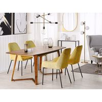 Spisebord 180x90 Cm Mørktræ Huxter