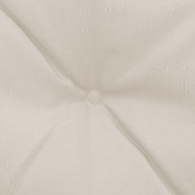 vidaXL hynder til gyngesofa 2 stk. 50 cm stof cremefarvet