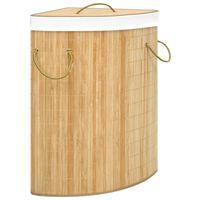 vidaXL hjørnevasketøjskurv 60 l bambus